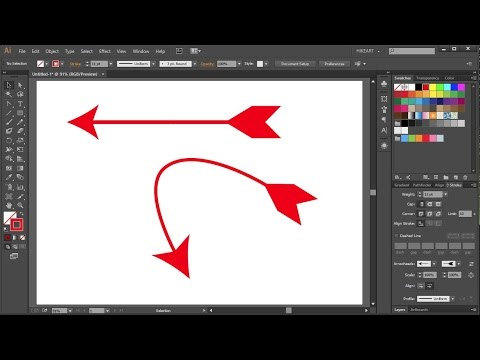 How To Draw A Curved Arrow In Adobe Illustrator_2