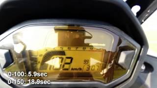 4. Honda CB500X 2014 | Acceleration 0-150, Flyby, Soundcheck