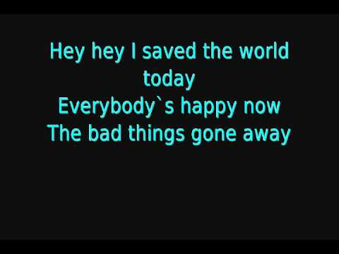 Eurythmics - I Saved The World Today (Lyrics)