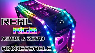 Connecting a Real Cheap RGB Addressable WS2812B LED strips on a Z370 Maximus X Hero.