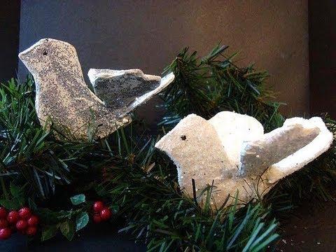PAPIER MACHE BIRD CHRISTMAS ORNAMENT, Christmas dove, diy, how to make it