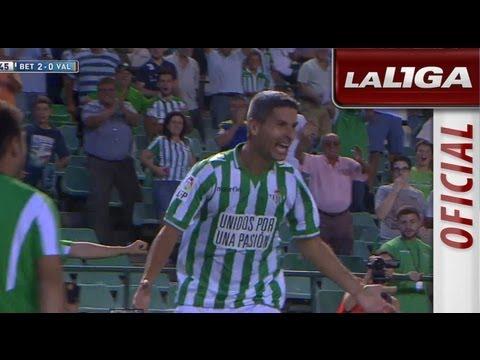 Gol de Salva Sevilla (2-0) en el Real Betis - Valencia CF - HD (видео)