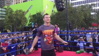 Jeff Horn basks in the support of his local Brisbane fans as he works out for the fans on Thursday, June 29, just three days before his fight with Manny Pacquiao. Video by Ryan Songalia