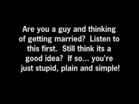 Why you should NOT get married!
