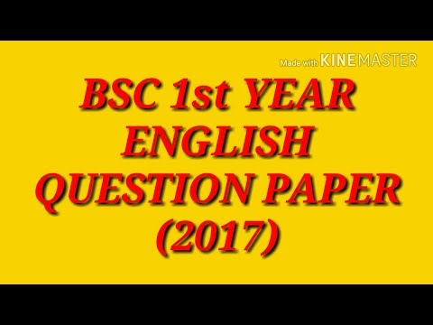 Video English question paper 2017 B.SC. 1st year download in MP3, 3GP, MP4, WEBM, AVI, FLV January 2017