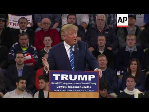 Trump Compares Clinton To Protester During Rally