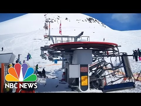 Terrifying Ski Lift Malfunction Caught On Camera | NBC News (видео)