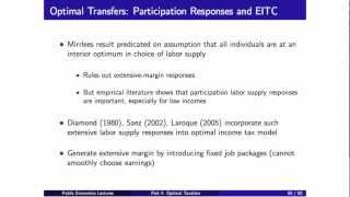Topic 4: Optimal Taxation Part 3 | Economics 2450A: Public Economics
