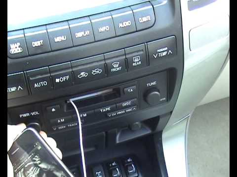 iPod Cassette adapter in a Toyota Land Cruiser