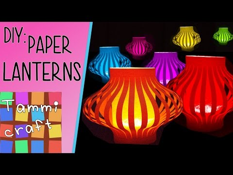 How to Make Colorful Paper Lanterns - Easy to Follow Tutorial
