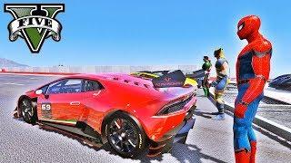 Video CARROS com Homem Aranha e Heróis na Rampa de Looping Duplo GTA V Mods - IR GAMES MP3, 3GP, MP4, WEBM, AVI, FLV Maret 2019