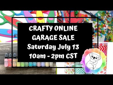 Online Crafty Garage Sale - Punches, Stencils, Stamps, Embellishments And More!