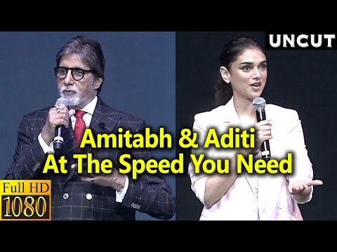 Amitabh Bachchan and Aditi Rao hHydari At Launch Of Oneplus 6 Mobile Discover The Speed You Need