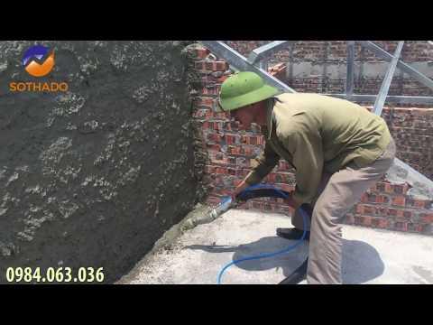 Máy Phun Vữa Trát Tường Trên Mái Thế Này Đã Chuẩn Chưa Các Bác