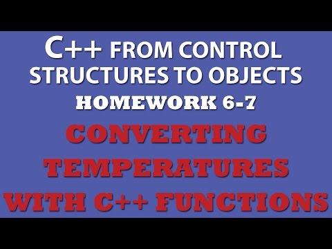 C++ Temperature Conversion (Ex 6-7) With C++ Functions