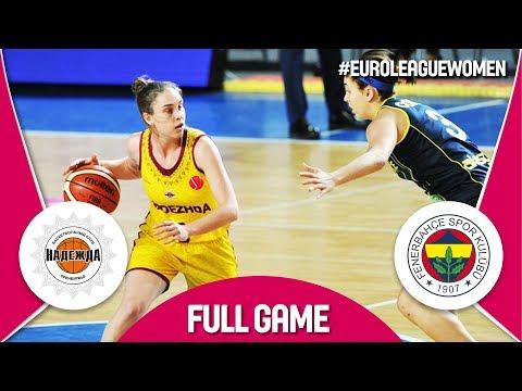 Nadezhda (RUS) v Fenerbahce (TUR) - Full Game - EuroLeague Women 2017-18 (видео)