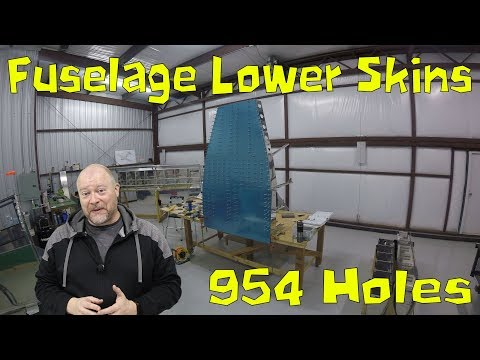 RV-10 Fuselage - 010 - Skins and 954 holes, Bent Ribs, Fluting and Access