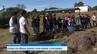 Curso de férias ensina técnicas de compostagem e cultivo orgânico a estudantes de São Manuel