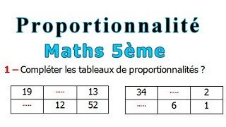 Maths 5ème - La proportionnalité Exercice 3