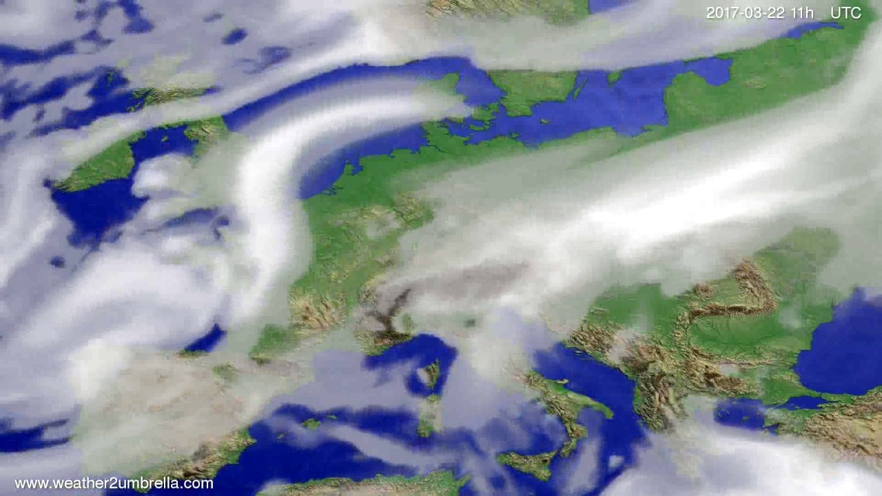 Cloud forecast Europe 2017-03-19
