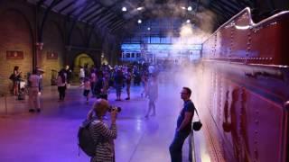Filmed at the Harry Potter Studio Tour outside of London, UK