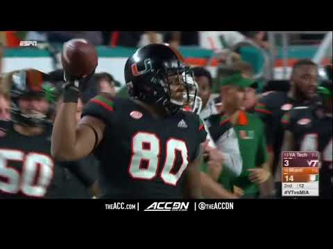 Virginia Tech Vs Miami College Football Condensed Game 2017