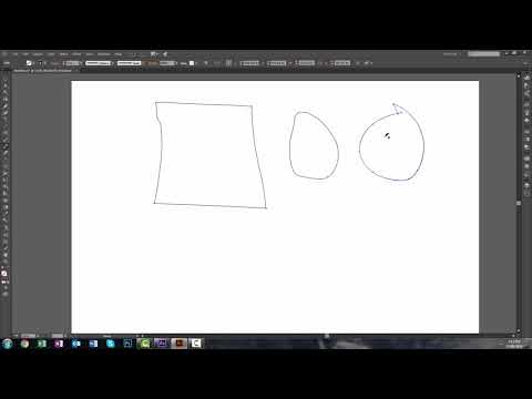 Adobe Illustrator - Pencil Tool - How To Create Smooth Paths With Mouse