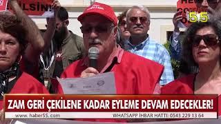 YÜZDE 25'LİK SU ZAMMINI PROTESTO ETTİLER!