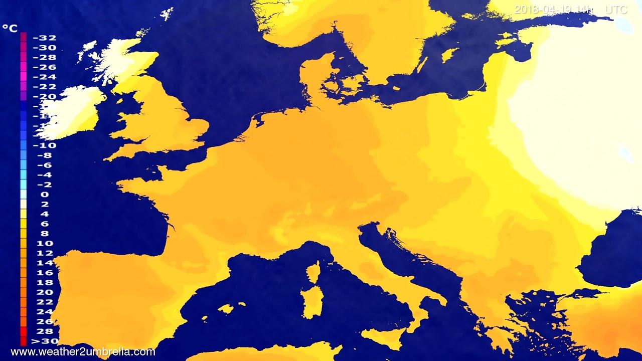Temperature forecast Europe 2018-04-17