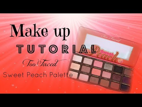Make up tutorial   Too Faced Sweet Peach Palette   Amb3r's  Multiv3rse