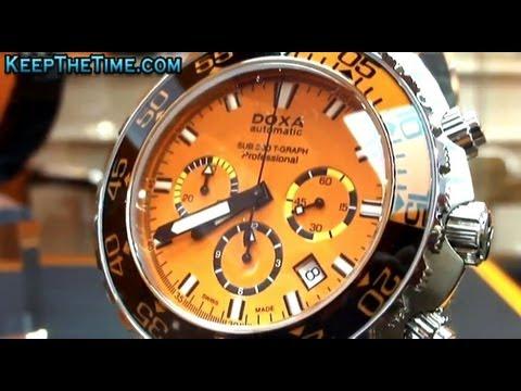 DOXA Watch Sapphire Bezel Diver at Baselworld