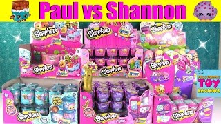 Paul vs Shannon Shopkins Dice Game Challenge | Food Fair Easter Egg Opening | PSToyReviews