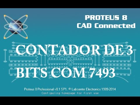 Contador de 3 Bits no Proteus(CI 7493)