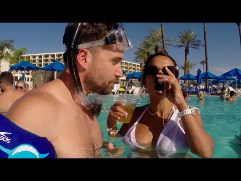 Guy teaches you how to sneak into hotel pool parties with one of the best zombie sequences I've ever seen.