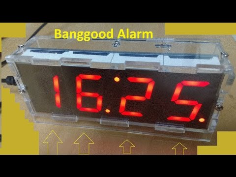 Banggood 4 digits Alarm Clock DIY Kit