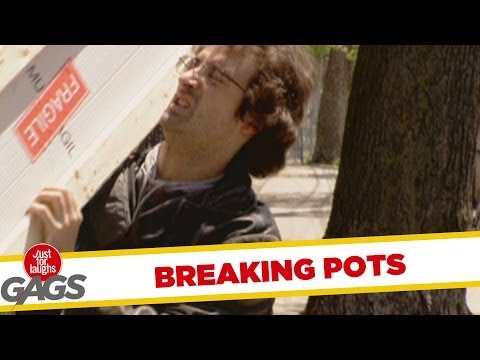 Breaking Flower Pots Prank