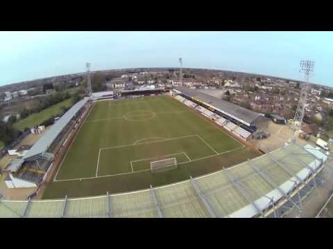 Cambridge Football Stadium & Wind Farm - FPV Quadcopter - GoPro (видео)