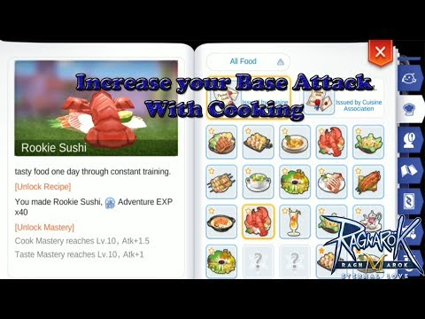 Increase Your Base Attack Permanently With Cooking - Tips And Tricks | Ragnarok M Eternal Love |