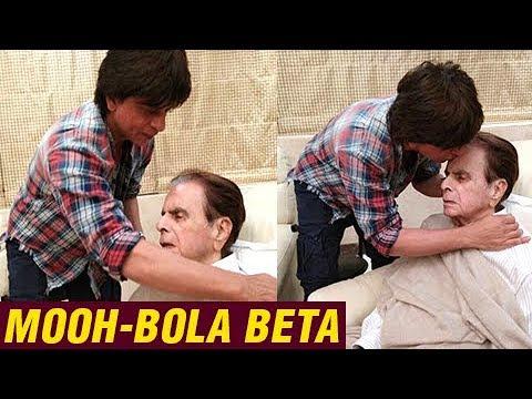 Mooh Bola Beta Shahrukh Khan Visits Dilip Kumar At
