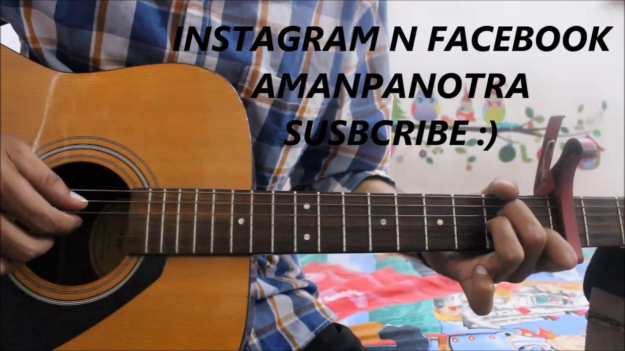 Dil De Diya Hai – Sad Romantic Song – Guitar Cover lesson easy version beginners