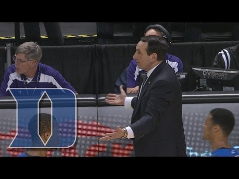 VIDEO: Coach K Gets Technical Foul For Throwing A Pen