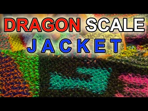 DRAGON SCALE Full Jacket Rainbow Loom