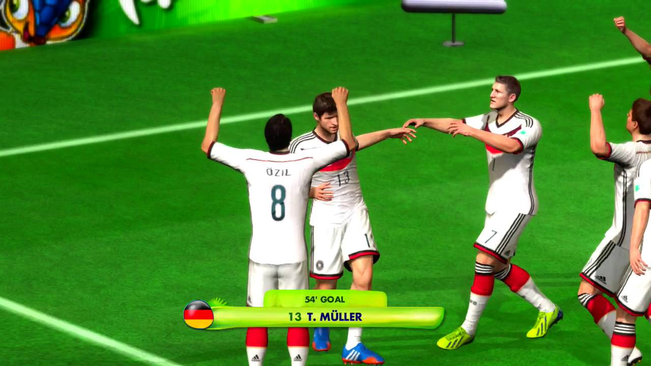 Germany vs Fiji Group C Game Pretend Olympic Games Using 2014 FIFA World Cup Brazil
