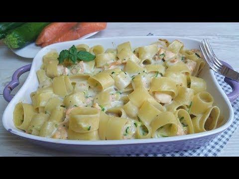 pasta al forno salmone e zucchine - ricetta