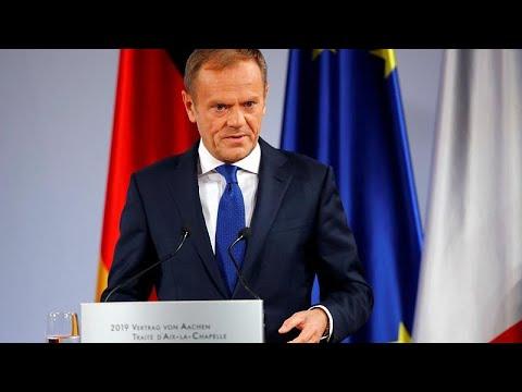 EU: Absage - Ratspräsident Tusk erklärt NEIN zu Brexi ...
