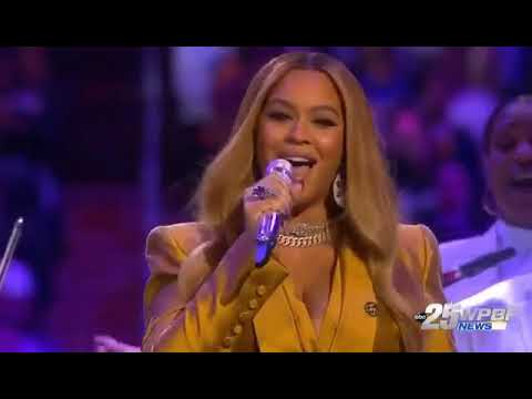 A Memorial service to Kobe's life in LA and Beyoncé performance