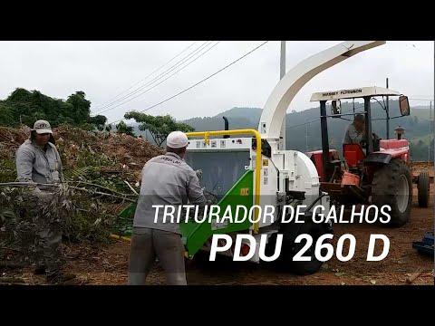 Triturador de galhos e troncos a Diesel Lippel PDU 260 D