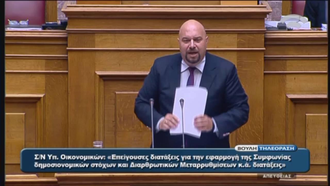 Η.Παναγιώταρος(Ειδ.Αγ.Χρυσής Αυγής)(Εφαρμογή της Συμφωνίας Δημοσιονομικών Στόχων)(21/05/2016)