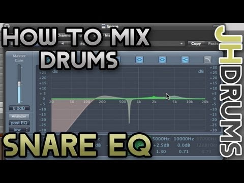 Snare Drum EQ - How To Mix Drums (Part 6) | by JHDrums