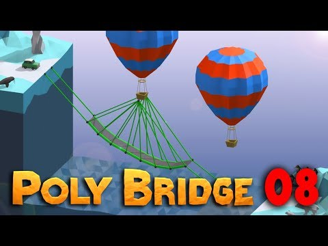 Balónový skok | Poly Bridge #08 | Pedro